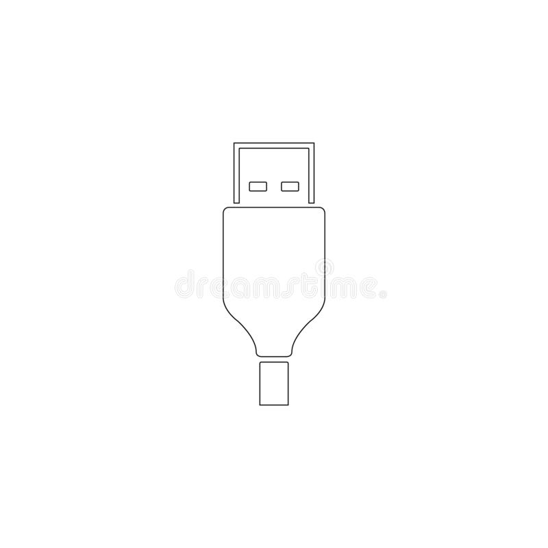 USB cable. flat vector icon royalty free illustration