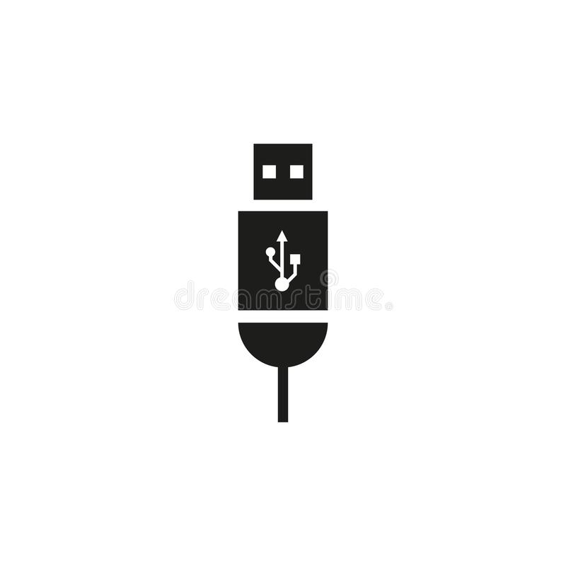 Usb cable vector icon royalty free illustration