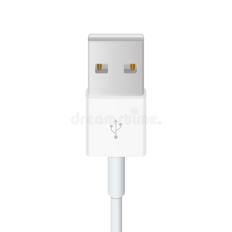 Usb cable. Vector illustration in white background royalty free illustration