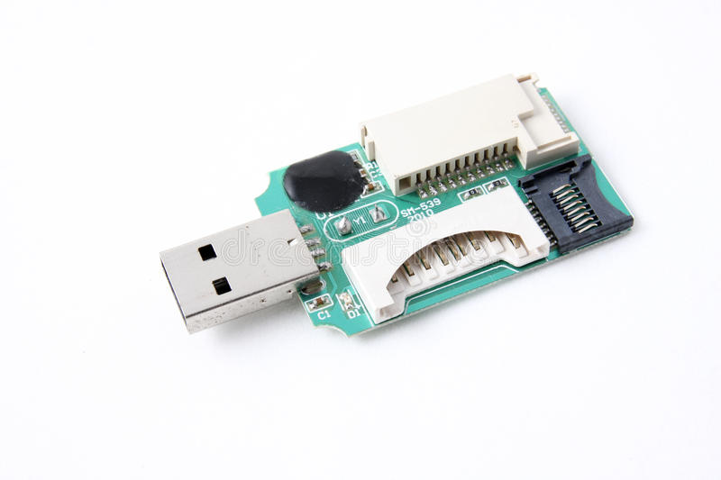 Download USB card reader stock photo. Image of cutout, detail - 23915410