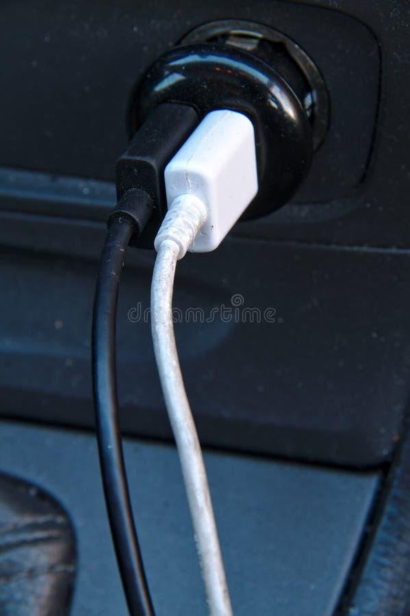 Usb carging的缆绳 免版税库存照片
