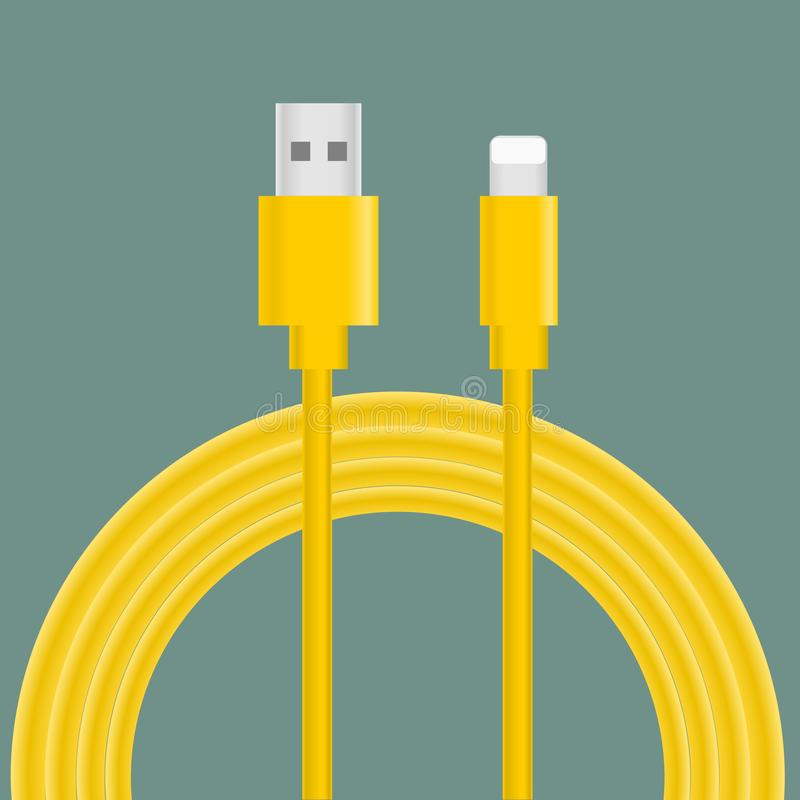 USB charging cable vector. Illustration royalty free illustration