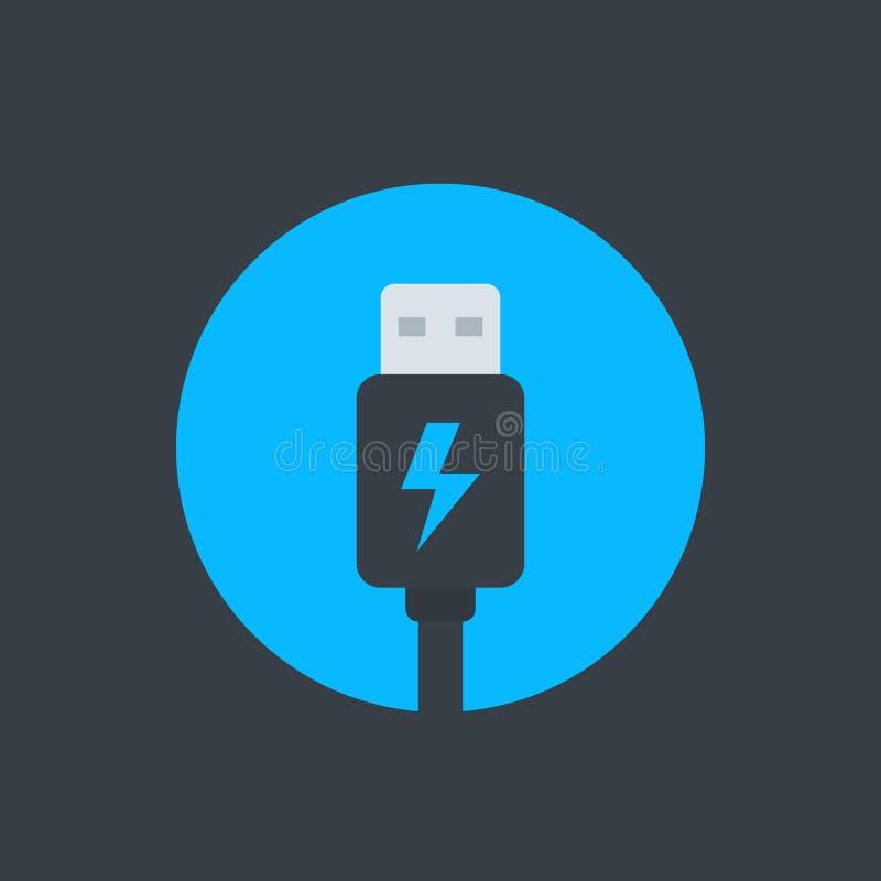 Usb charging plug icon, vector illustration. Eps 10 file, easy to edit royalty free illustration