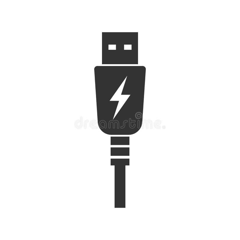 USB charging plug icon. Vector illustration. Eps 10 royalty free illustration