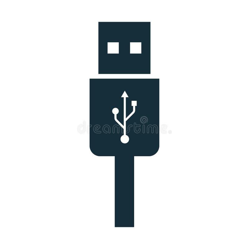 Usb charging plug icon. On white background royalty free illustration