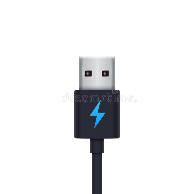 Usb charging plug vector illustration. Eps 10 file, easy to edit royalty free illustration