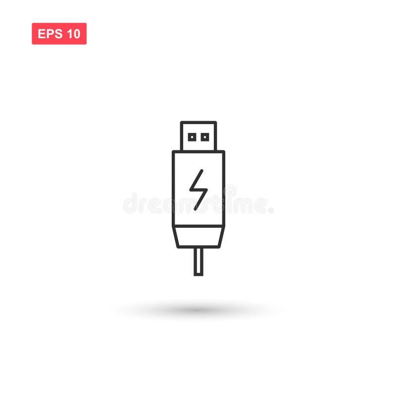 Usb charging plug vector isolated 2. Eps10 royalty free illustration