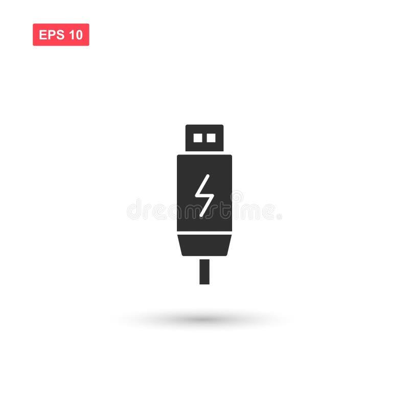 Usb charging plug vector isolated. Eps10 royalty free illustration