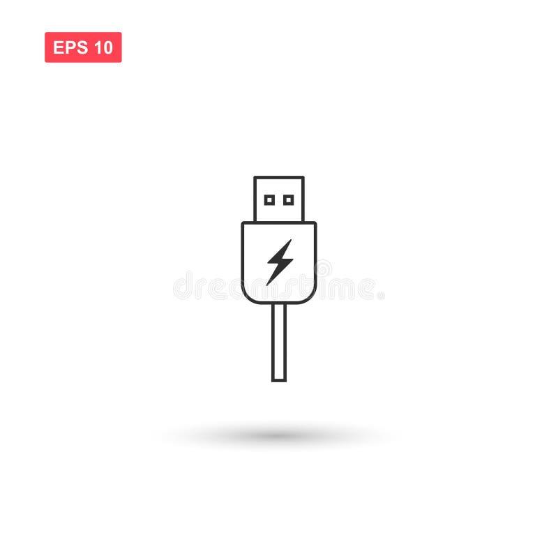 Usb charging plug vector isolated 3. Eps10 stock illustration