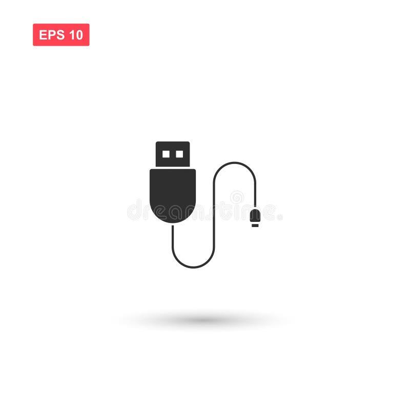 Usb charging plug vector isolated 5. Eps10 stock illustration