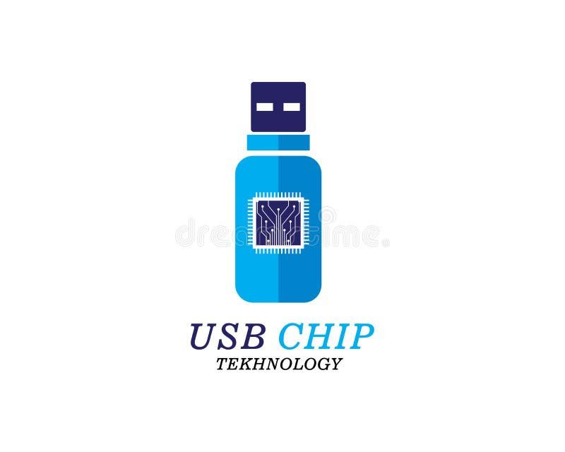 Usb chip concept vector illustration. Template stock illustration