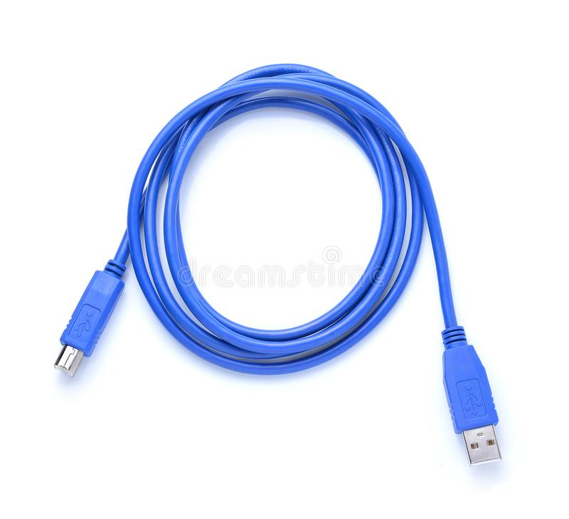 USB connector against white background royalty free stock photo