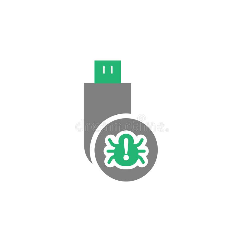 Usb crack icon. Element of Cyber and Security icon for mobile concept and web apps. Detailed Usb crack icon can be used for web stock illustration