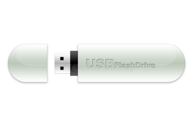 USB de stok van het flitsgeheugen royalty-vrije illustratie