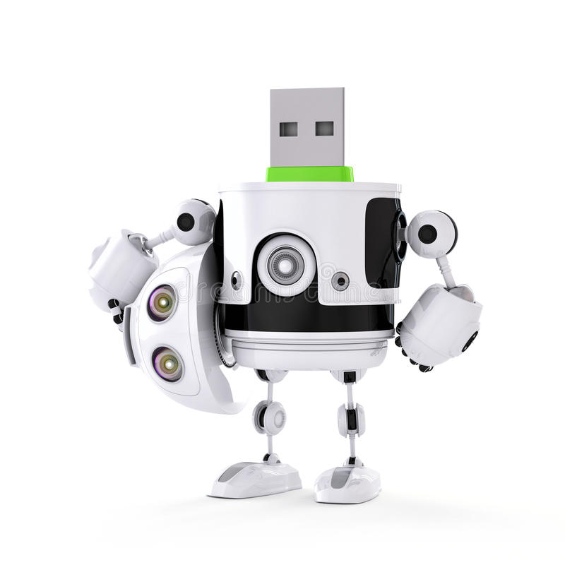 USB droid royaltyfri illustrationer