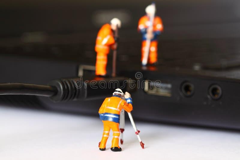 USB för konstruktionsmodellarbetare kabel E arkivbilder