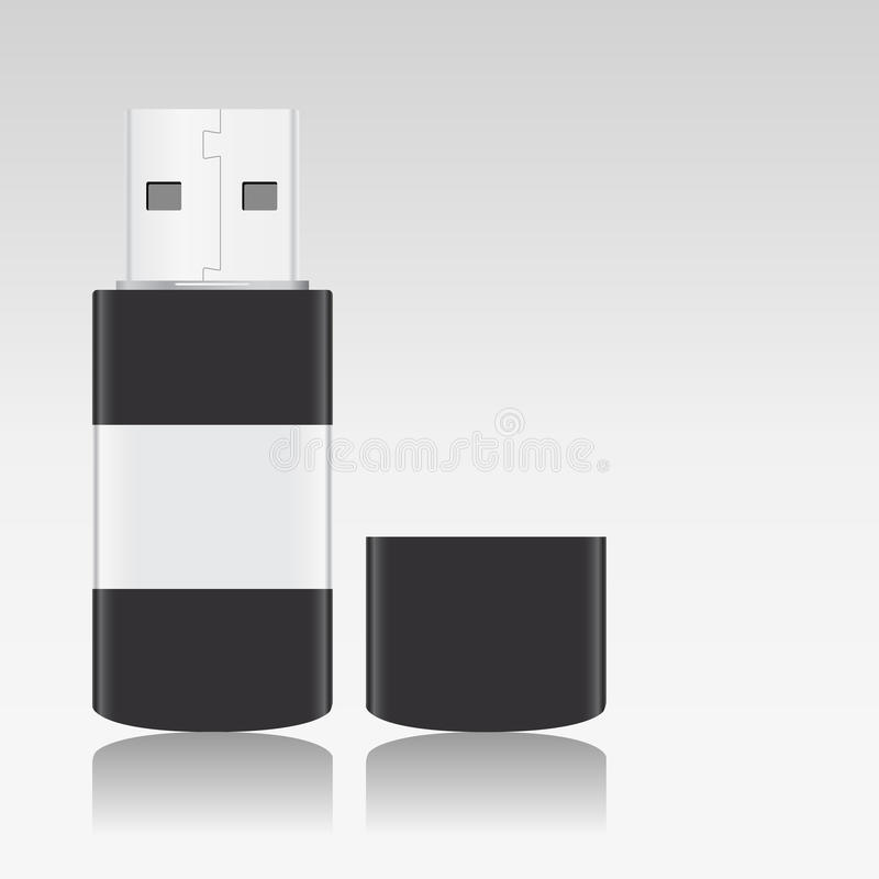 Download USB Flash Drive stock vector. Illustration of disk, nobody - 22076560
