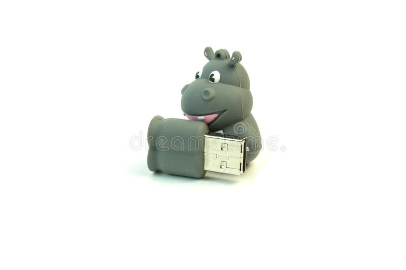 USB flash drive for a child. photo on white background. royalty free stock photo