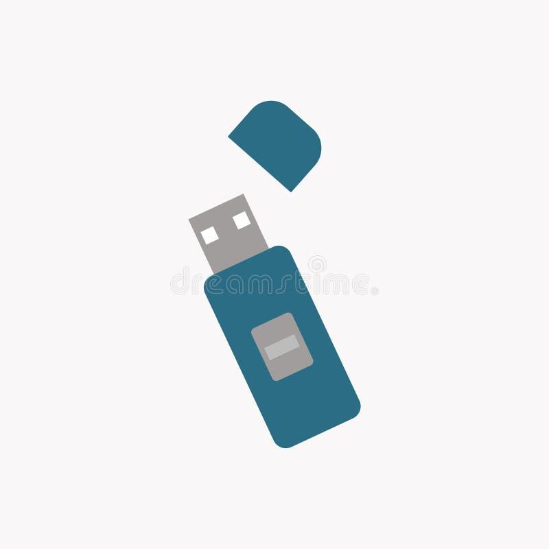 USB flash drive icon. Disk. Vector illustration. EPS 10 royalty free illustration