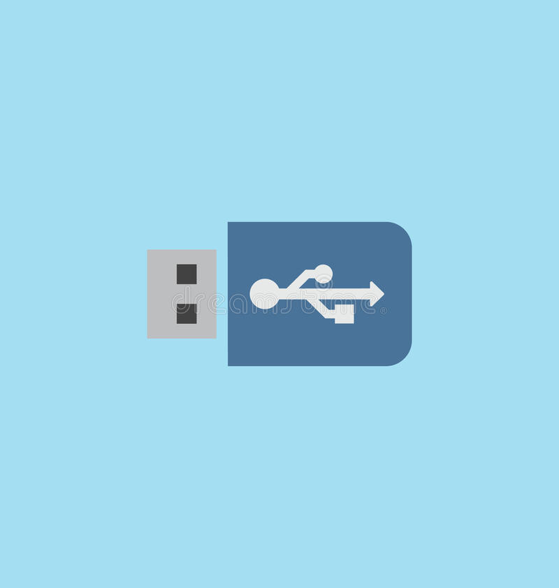 Usb flash drive icon. Usb flash drive icon vector royalty free illustration
