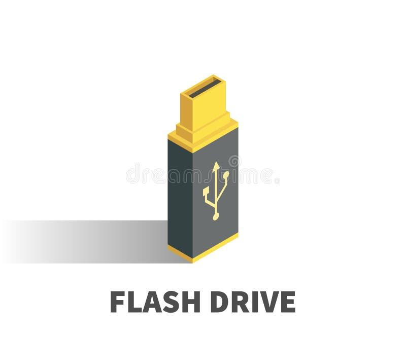 USB Flash Drive icon, vector symbol. royalty free illustration