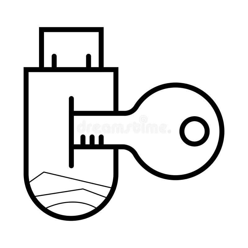 USB flash drive Icon Vector. royalty free illustration