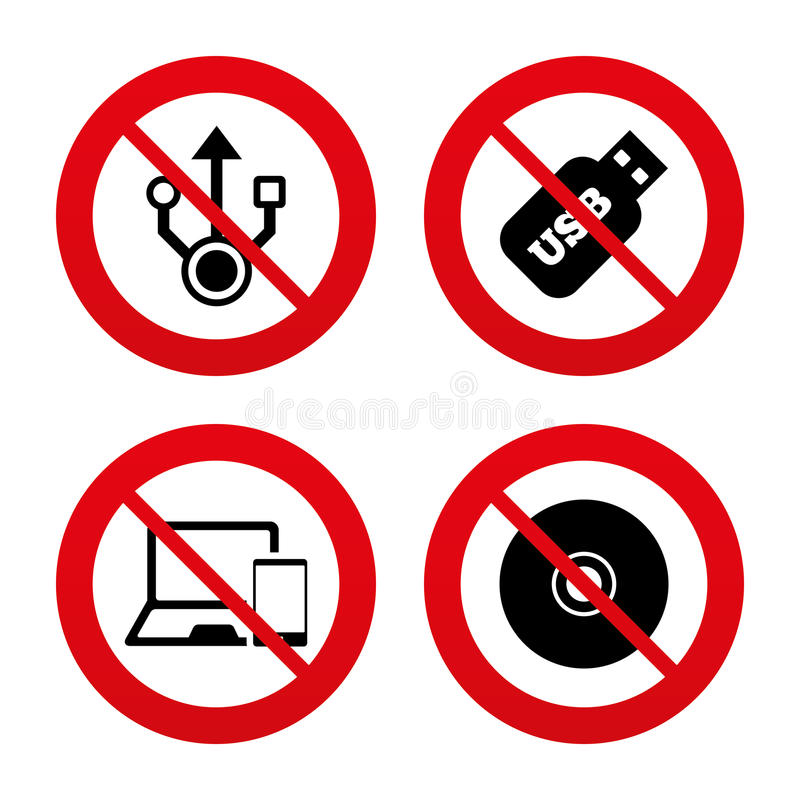 Free Usb Flash Drive Icons. Notebook Or Laptop Pc Royalty Free Stock Photos - 54321528