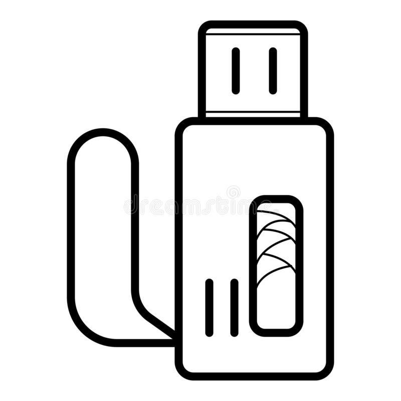 Usb flash drive vector stock illustration