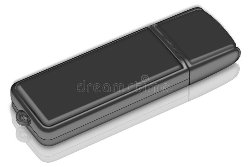 USB flash drive. On white background vector illustration