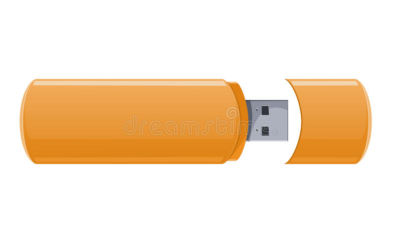 Download Usb flash memory stock vector. Image of mobile, flash - 23187725