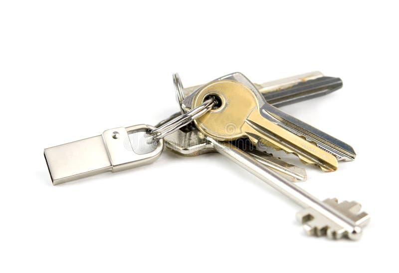 Usb flash memory and keys royalty free stock image