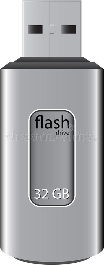Download Usb flash storage drive stock vector. Image of megabyte - 11237521