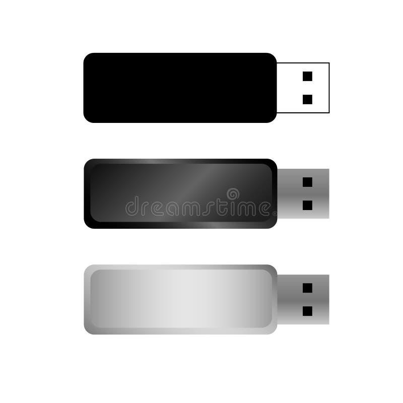 USB-flitsaandrijving royalty-vrije illustratie