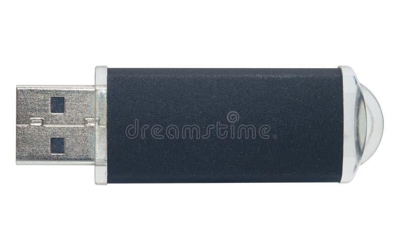 USB- geïsoleerd flitsgeheugen stock foto