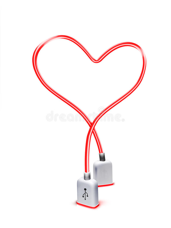 Download Usb heart stock photo. Image of digital, electronic, electrical - 12921050