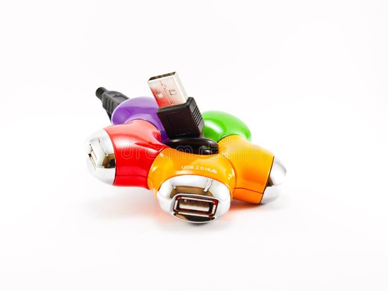 USB-HUB para quatro entradas imagens de stock