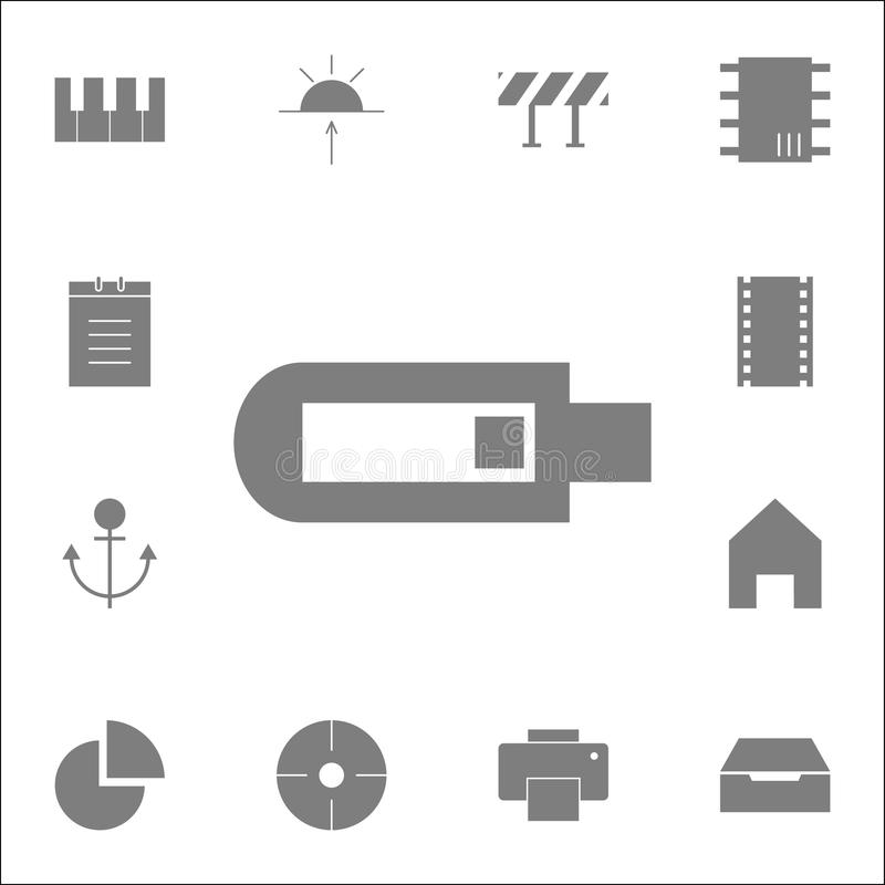 Usb icon. Detailed set of minimalistic icons. Premium quality graphic design sign. One of the collection icons for websites, web d. Esign, mobile app on white vector illustration