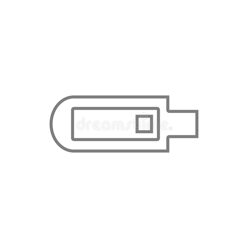 Usb icon. Element of cyber security for mobile concept and web apps icon. Thin line icon for website design and development, app. Development on white royalty free illustration