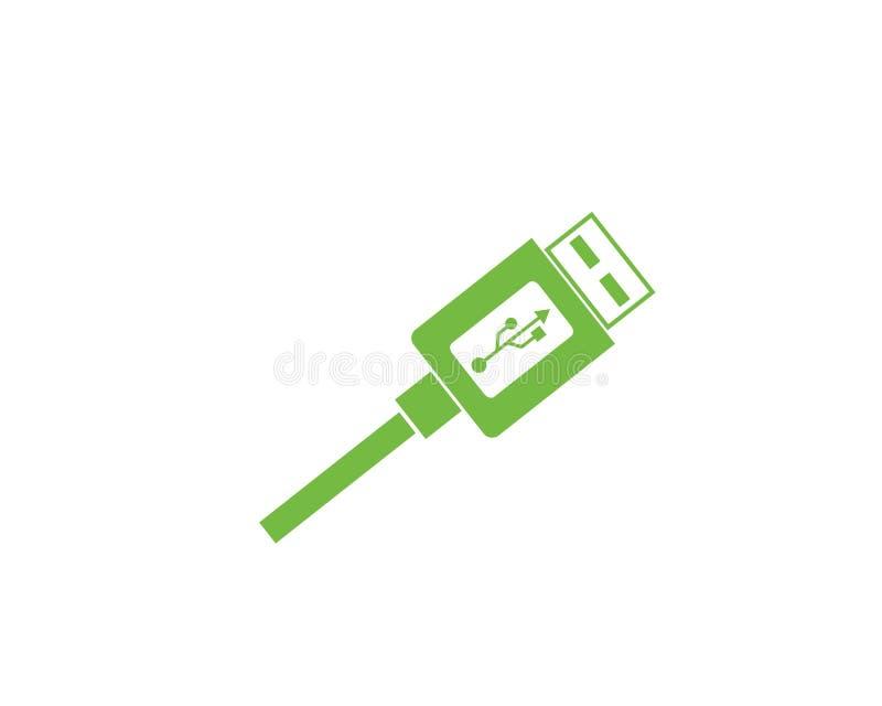 Usb icon vector illustration. Template royalty free illustration
