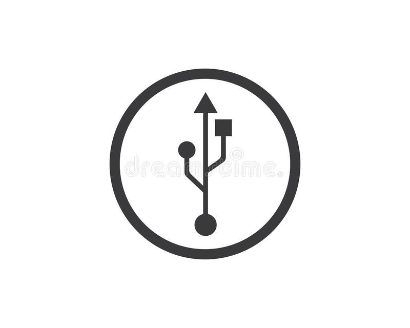 Usb icon vector illustration. Template stock illustration