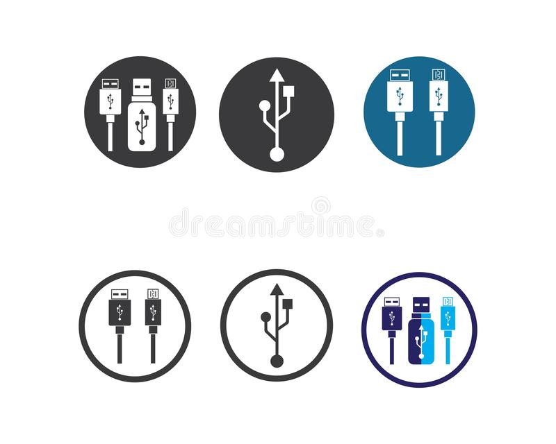 Usb icon vector illustration. Template vector illustration