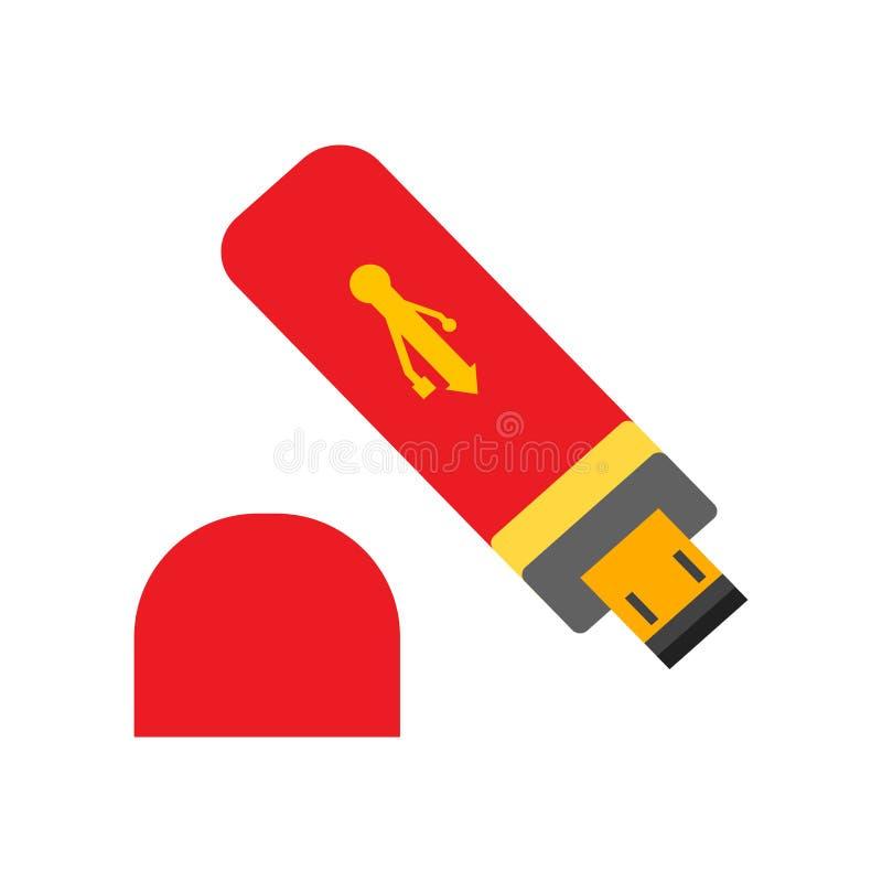 Usb icon vector isolated on white background, Usb sign , colorful equipment symbols. Usb icon vector isolated on white background, Usb transparent sign royalty free illustration