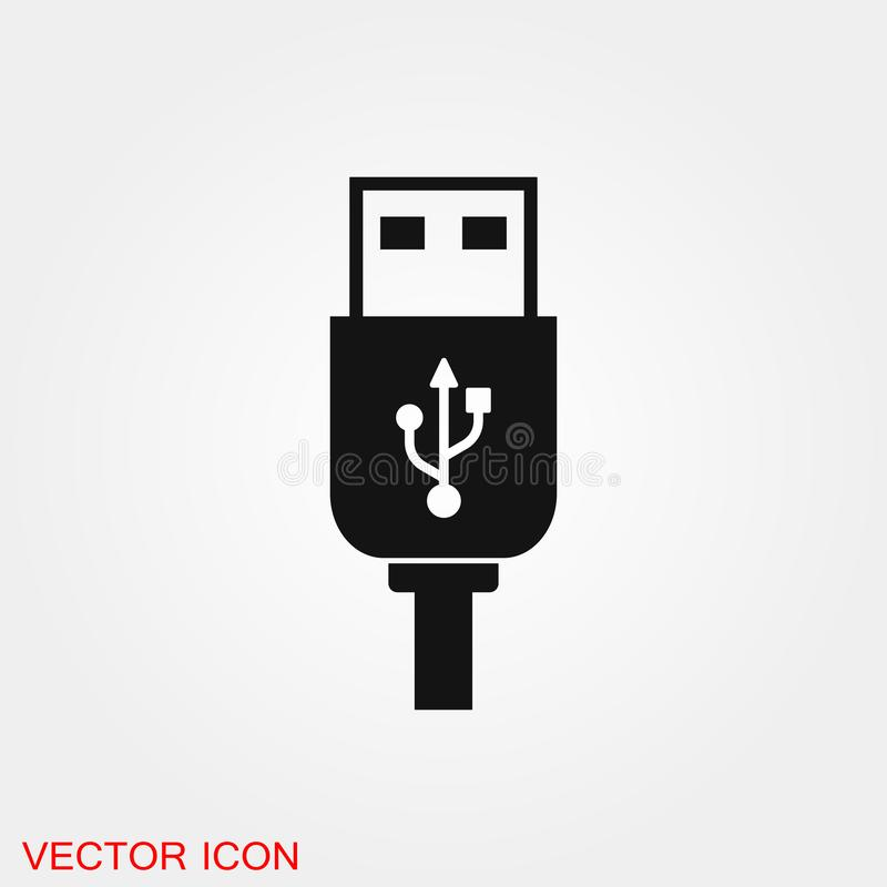 Usb icon vector sign symbol for design. Usb icon vector sign symbol royalty free illustration
