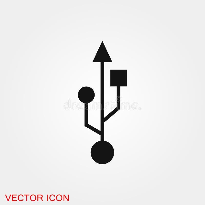Usb icon vector sign symbol for design. Usb icon vector sign symbol vector illustration