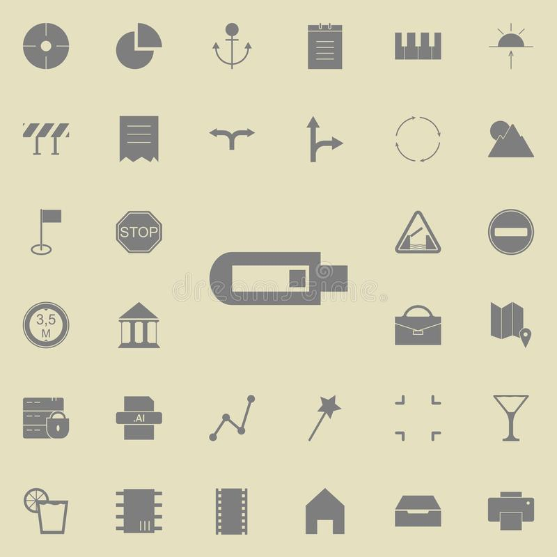 Usb icon. web icons universal set for web and mobile. On white background stock illustration