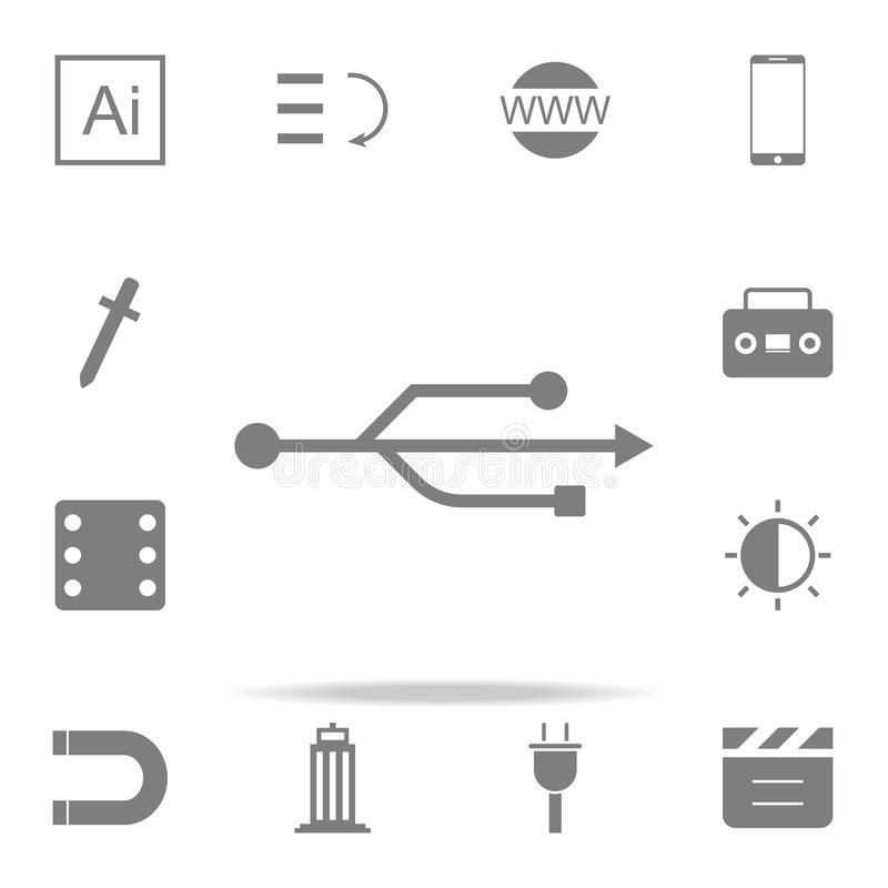 Usb icon. web icons universal set for web and mobile. On white background vector illustration