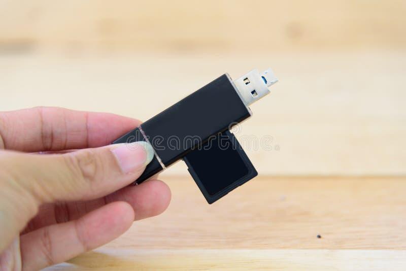 USB-kaartlezer voor mobiel stock afbeelding