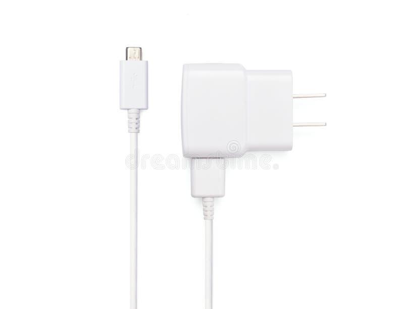 USB kabla prymka z USB władzy wtyczkowym adaptor obrazy royalty free