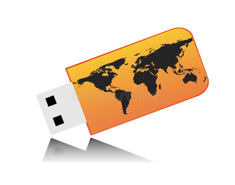 Download Usb key stock vector. Illustration of abstract, earth - 25772707