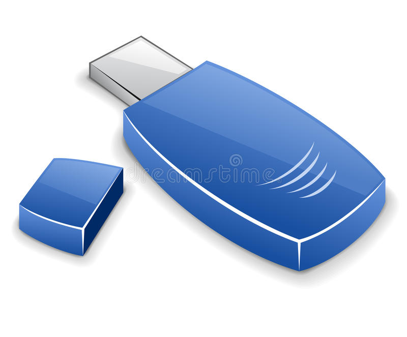 Download USB memory card stock vector. Image of blue, periphery - 22763152